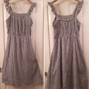 Striped Maxidress with flutter straps